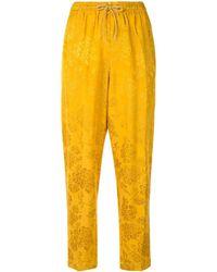 Karen Walker Dahlia Jacquard Pants - Yellow