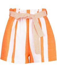 lemlem Zoya High Rise Shorts - Orange