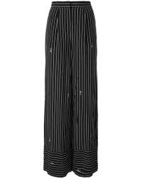 Karl Lagerfeld - Striped Wide-leg Trousers - Lyst