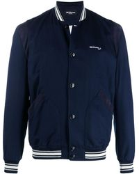 Kiton ロゴ ボンバージャケット - ブルー