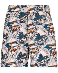 Orlebar Brown Bulldog Summer Scene Swim Shorts - Blue