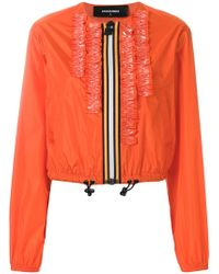 DSquared² - Ruffle-trimmed Jacket - Lyst