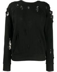 Unravel Project ダメージ セーター - ブラック