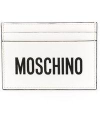Moschino Porte-cartes à logo - Blanc