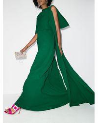 Oscar de la Renta Vestido de fiesta con diseño de caftán - Verde