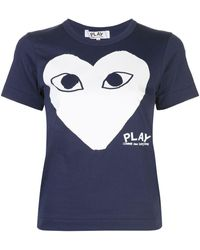 COMME DES GARÇONS PLAY - プリント Tシャツ - Lyst