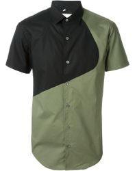 Opening Ceremony - Shortsleeved Colour Block Shirt - Lyst