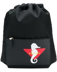 Prada Rucksack mit Seepferdchen - Schwarz