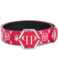 Philipp Plein Ремень С Пряжкой-логотипом - Красный