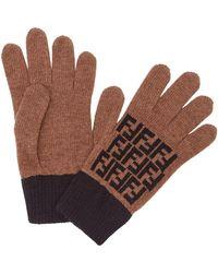 Fendi Ff Motif Gloves - Brown