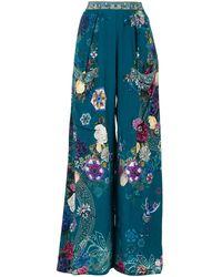 Camilla Pantalon ample Lunar Gazing - Bleu