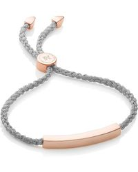 Monica Vinader Bracelet Linear Solo Friendship en or rose 18ct