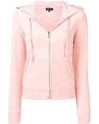 Juicy Couture Swarovski Personalisable Velour Hoodie - Pink