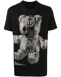 Philipp Plein Футболка Teddy Bear - Черный