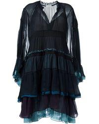 Chloé - Tiered Colour Block Dress - Lyst