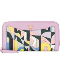 Emilio Pucci Abstract Print Wallet - Pink