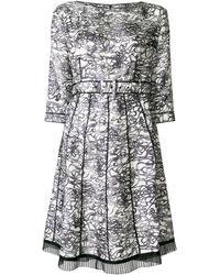 Marc Jacobs Patterned pleated dress - Blanc