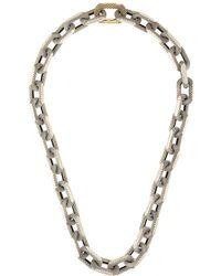 Ambush Collar de cadena texturizado - Metálico