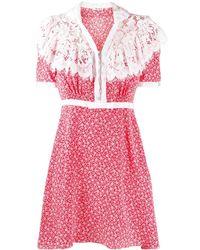 Miu Miu フローラル ドレス - ピンク