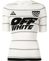Off-White c/o Virgil Abloh Logo Fitted Top - White