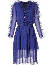 Olympiah Vestido Decote Ravena - ブルー