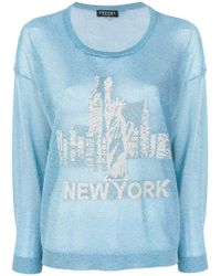Twin Set - New York Knitted Top - Lyst