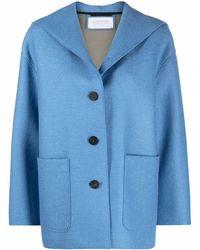 Harris Wharf London パッチポケット ジャケット - ブルー