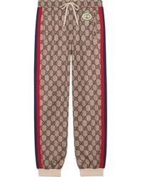 Gucci GG Supreme Print jogging Trousers - Multicolour