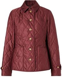 Burberry - Quilted Fitted Jacket - Lyst