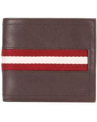 Bally - Tollent Stripe Panel Wallet - Men - Cotton/calf Leather - One Size - Brown