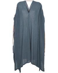 Caravana - Ruched Shoulder Kaftan Dress - Lyst