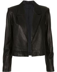 RTA Wynn Cropped Jacket - Black