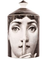 Fornasetti Scented Candle With Printed Casing - Black