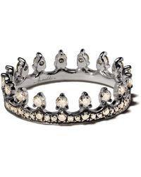 Annoushka Кольцо Crown Из Белого Золота С Бриллиантом - Многоцветный