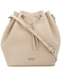 N°21 Drawstring Bucket Bag - Natural
