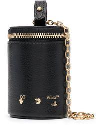 Off-White c/o Virgil Abloh Mini sac à design cylindrique - Noir