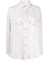 IRO Marsh ツイードシャツ - ホワイト