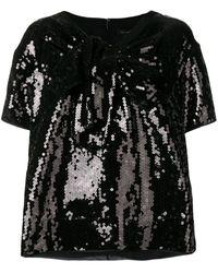 Marc Jacobs スパンコール Tシャツ - ブラック
