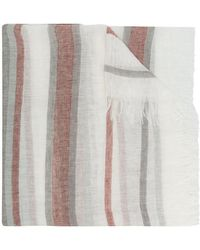 Peserico - Striped Frayed Scarf - Lyst