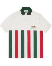 Gucci Рубашка Поло В Полоску Web - Белый