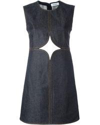 Courreges Cut-off Detailing Denim Dress - Blue