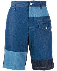 Engineered Garments コントラスト デニムショートパンツ - ブルー