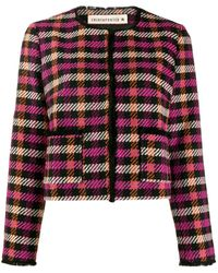 Shirtaporter Cropped Tweed Jacket - Black