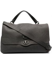 Zanellato Crinkled Leather Briefcase - Black