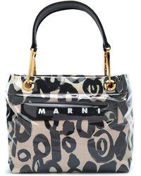 Marni ロゴ ハンドバッグ - ブラック