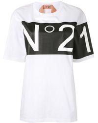 N°21 Contrast Logo Print T-shirt - White