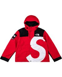 Supreme X The North Face S Logo Mountain Jacket - Red