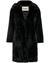 Herno Faux fur coat - Schwarz