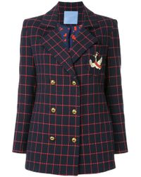 Macgraw - Checked Double Breasted Blazer - Lyst