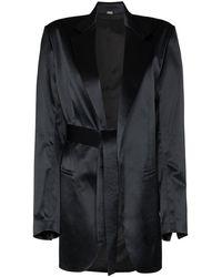 Dodo Bar Or Coco Tie-fastening Waist Blazer - Black